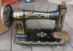 White Family Rotary Treadle Sewing Machine Head Turns Untested Comes As Is