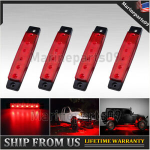 4x 3 8 led Clearence Lights For Jeep Truck Off road Red Rock Light Surface Mount