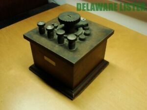 Vtg Leeds Northrup Cat Total Resistance Control Wooden Box 10 000 Ohms Usa