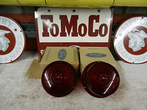 1959 Ford Nos Tail Lights B9a 13450 a 1 Pair New In The Ford Box