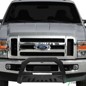Topline For 2008 2010 Ford F250 F350 Avt Aluminum Led Bull Bar Guard Matte Blk