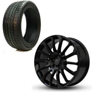Set Of 22 Wheels And Tires For Land Rover Range Hse Autobiography Gloss Black