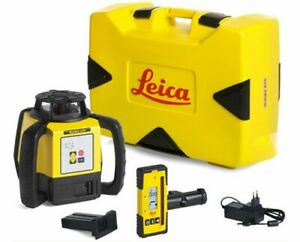 Leica Rugby 620 Rotary Survey Laser Level With Rod Eye 140
