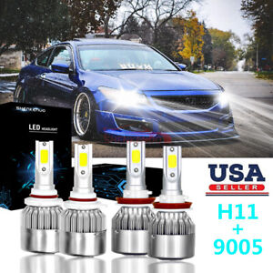 9005 H11 Combo Led Headlight Kit For Honda Accord Coupe 2008 2015 High Low Beam