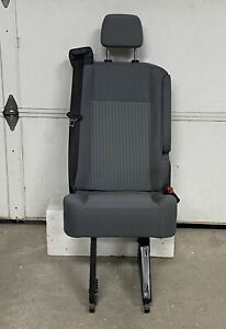 15 18 Ford Transit Van Oem Gray Cloth Rear Single Over Wheel Well Bucket Seat