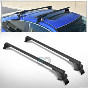 50 Black Aluminum Oval Window Frame Roof Rail Rack Cross Bars Cargo Carrier C1