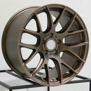 18 Bronze Esr Sr12 Wheels 18x8 5 35 5x100 Fit Impreza Wrx Tc Celica Camry Rims