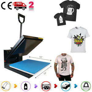 Digital Clamshell 15 x15 transfer Sublimation Heat Press Machine Diy T shirt