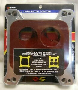Spectre 5765 1 Carb Carburetor Spacer Adapter Kit Spread Bore To Square Bore