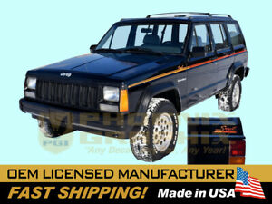 1991 1992 Jeep Cherokee Sport Xj Decals Stripes Graphics Kit