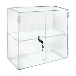 Acrylic Lockbox Countertop Display Case 16 375 Wide