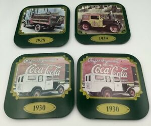 1989 Vintage Coca-Cola Coasters Lot of 4