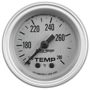 Autometer 2335 Auto Gage Mechanical Water Temperature Gauge