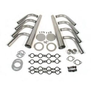 Gm Ls1 Lake Style Header Kit 1 5 8 Tube 4 Inch Cone