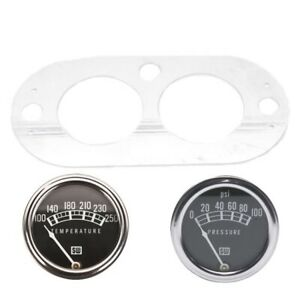 Speedway Stewart warner 2 1 16in Oil Pressure And Water Temp Gauge Set