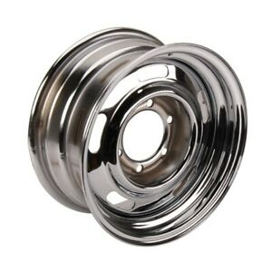 Gm Rally Truck Wheel 6 On 5 5 Inch Bolt Pattern 15x10 Silver