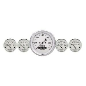 Autometer 1640 Old Tyme White 5 Piece Gauge Set Electric