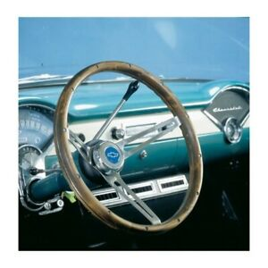 Grant 967 15 Inch Classic Nostalgia Wood Steering Wheel W Chevy Horn