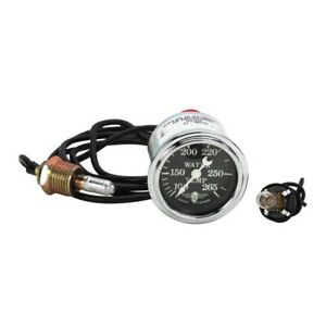 Stewart Warner 82480 72 Wings Mechanical Water Temp Gauge Black