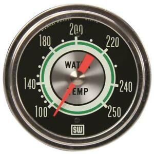 Stewart Warner 692h72 Green Line 2 5 8 In Water Temp Gauge Mechanical