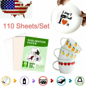 Sublimation Transfer Paper Heat Dye A4 110 Sheets For Printing Diy T shirt Mug