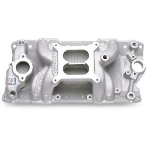 Edelbrock 7501 Performer Rpm Air Gap Small Block Chevy Sbc 350 Intake Manifold