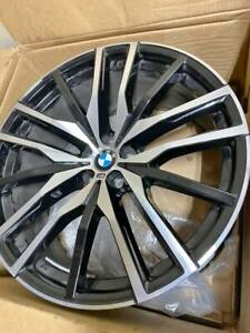 Bmw X5 X7 Series Oem Factory Genuine Style 742m 22 Wheels And Center Cap Set