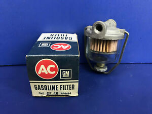 Nos New Ac Delco Gf 48 Gm 854444 Glass Bowl Fuel Filter For Gm Vehicles