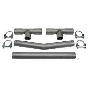 Universal Dual Exhaust H Pipe Balance Tube Kit 2 1 2 Inch