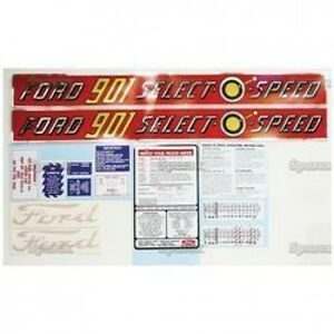New Ford 901 Select o speed Complete Decal Set