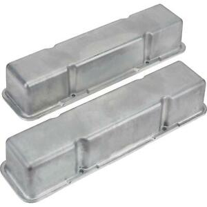 Sbc Chevy 283 305 307 327 350 400 Tall Valve Covers Cast Plain Aluminum