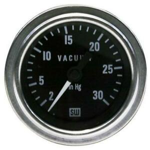 Stewart Warner 82328 Deluxe Vacuum Gauge Mechanical 2 1 16 Inch