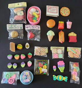 3 Lbs Mixed Lot Of Erasers For Kids holiday Food Animals Hobbies Etc