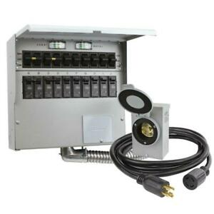 Manual Transfer Switch Kit Reliance Controls 10 circuit 30a Portable Generator