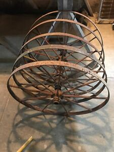 5 Antique Steel Wheels Height 30 Inches