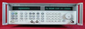 Hp Agilent 83752b 1e1 1ed 3610a01360 Synthesized Sweeper 10mhz To 20ghz