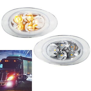 Led Cab Sidemarker Turn Signal Lights For 08 17 Freightliner Cascadia Semi truck