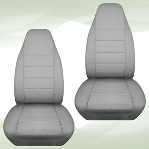 Front Set Car Seat Covers Fits Ford Explorer 1991 2002 Solid Silver