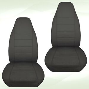 Front Set Car Seat Covers Fits Ford Explorer 1991 2002 Solid Charcoal