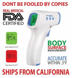 Medical Non Contact Digital Ir Forehead Thermometer 0 3 f Accuracy Fda ce Cert