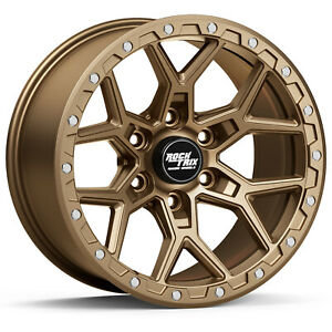 1 Rocktrix Rt107 Wheel 17x9 12mm Offset 6x5 5 106 1mm Bore Bronze