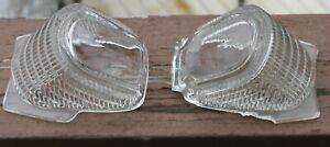 Vintage Clear Glass Reverse Back Up Lights Lens Parking Light Pair 1941 Plymouth