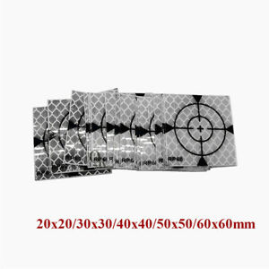 All Size 100 Pcs Reflector Sheet Reflective Tape Target For Total Station Survey