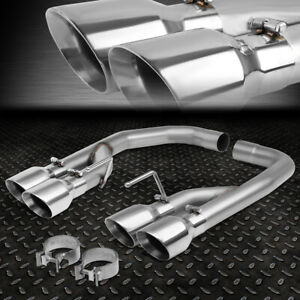 For 18 20 Ford Mustang 5 0l Axle Cat Back Exhaust System W 4 Od Muffler Tips