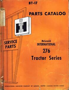 International Vintage 276 Gasoline Tractor Parts Catalog Manual Bt 17