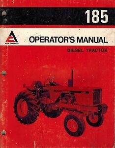 Allis Chalmers 185 Tractor Operator s Manual