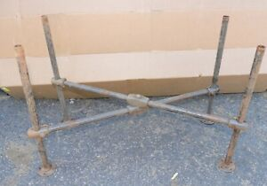 Antique Industrial Pipe Stand Watchmakers Lathe Bench Base Kitchen Island