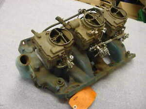 Pontiac Gto 1966 Factory Tri Power Intake W Carburetors