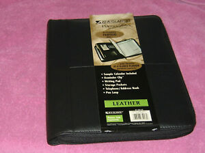At A Glance Plannner Folio binder Leather New