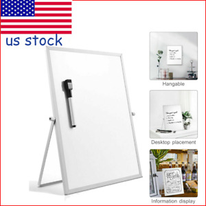 14x11 Magnetic Dry Erase Board Double Sided White Board W Stand Writing Board
